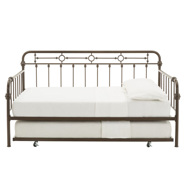 Elliot Antique Dark Bronze Metal Full Daybed with Trundle Bed, image 2